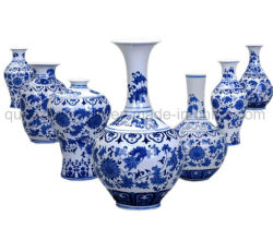 Oem Klassiek Decoratief Chinees Blauw Wit Craft Porselein Ceramic Vaas