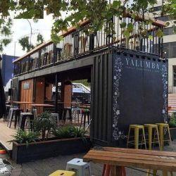 Resistente al agua de bajo coste de 20 pies prefabricados Contenedor Cafetería Bar en venta