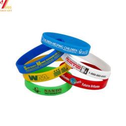 El logotipo de impresión personalizadas pulsera de silicona/Pulsera de silicona para regalo promocional grabado Pulsera Pulsera Arco iris