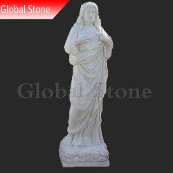 Reigious мраморные скульптуры из камня резьба статуи Иисуса (GSS-212)