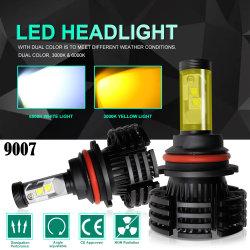 x4 デュアルカラー温度 3000K 6500K ヘッドライト LED 変換、 LED カーヘッドライト H7 ランプ