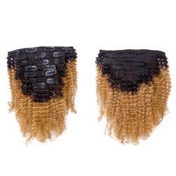 Clip diritta brasiliana di Yaki nel colore naturale di Remy dei capelli naturali di estensione 120g dei capelli umani