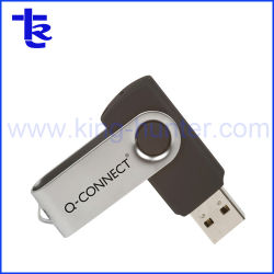 Индивидуальные металлические поворотный диск для перьев USB подарки