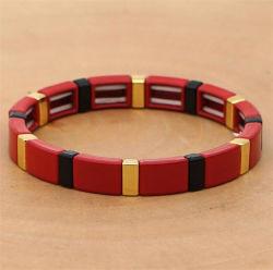 Braccialetto Colourful delle coppie della vernice del nuovo di disegno di modo braccialetto in rilievo geometrico della Boemia della lega
