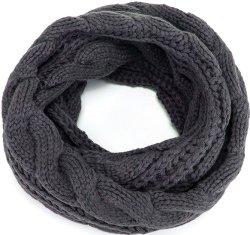 Pashmina invierno cálido tejido estriado gruesa bufanda Snood bucle círculo