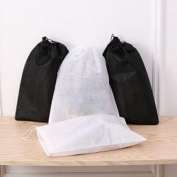 Nichtgewebte Gewebedrawstring-Beutel-kundenspezifische Schuh-Beutel-Zug-Zeichenkette, zum des Verpackungs-Beutels zu empfangen