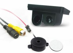 Cisbo C712 Sensor de Estacionamento de vídeo de automóveis, 2 em 1 Ventoinha Integrada do Sistema de Estacionamento