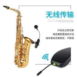 Instrumento musical inalámbrica 2.4G portátil para violín de micrófono/guitarra/Saxphone
