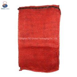 SGS CE FDA China proveedor 50lb 50kg cebolla tomate patatas fruta/Vegetal/leña/Marisco envasado Cordón de embalaje de plástico PP Leno Net bolsa de malla