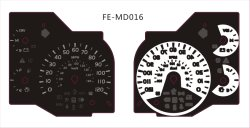 Hohe Helligkeit Fe-MD016 EL-Selbstgeschwindigkeitsmesser-Panel Bildschirm-Drucken-Zoll des 2D Rmp Anzeigeinstrument-Automobil-Messinstruments