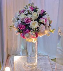 도매 결혼식 훈장 아크릴 투명한 꽃 화병