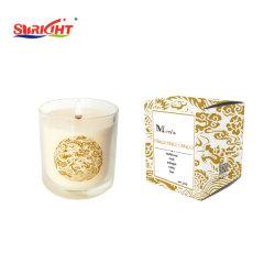 Candela di vetro del vaso del piccolo del girasole profumo giallo di promozione