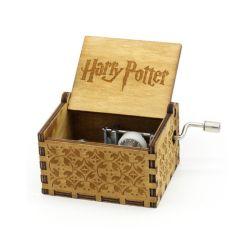 Caixa de música de madeira Potter jogo dos tronos Dom para Chirstmas Feliz Aniversário