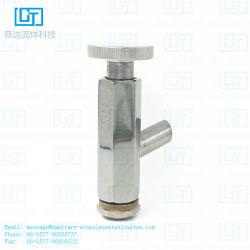 SS304/316L de sanitaire Klep van de Steekproef van het Type van Roestvrij staal Vrouwelijke Hand