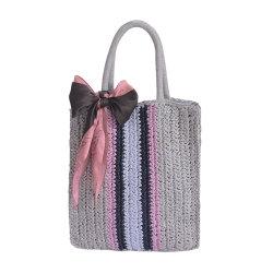 夏の raffia のペーパーわらの Crochet の手のバケツのトートバッグのため 女性