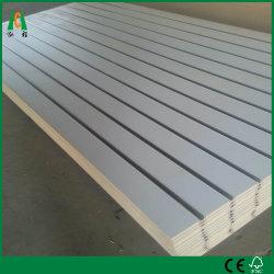 Melamined MDF ranhurado/parede ranhurado Board