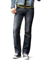 Dos homens100% algodão Jeans Denim com especial Z Zag costura superior