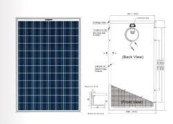معتمد من قبل CE RoHS TUV للوحة الشمسية/الوحدة الشمسية (CLSPP210W)