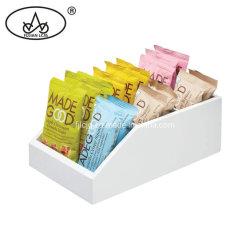 Handgemachte weiße Teiler-Bambusorganisator-Ablagekasten der Farben-hölzerne Gewürz-Teebeutel-Küche-3