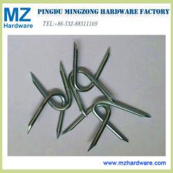 Type barbelé agrafe du point U de coupure de part de diamant de frontière de sécurité de Nail/U