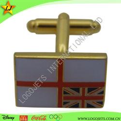 изготовленный на заказ<br/> латунные указан флаг Cufflink с эмалью цвета
