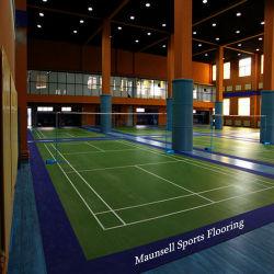 Haut de la surface de plancher sportif de qualité pour le badminton cour avec des prix le moins cher