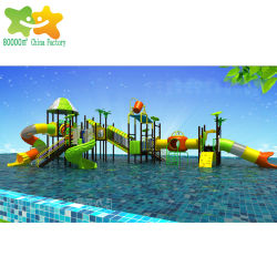 Стекловолоконные пластиковый бассейн воды играют оборудование детский парк водные горки в бассейн