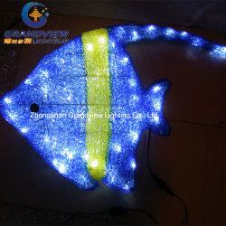 Buscando a Nemo decoración acrílico azul pescado LED