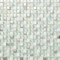 10*10mm White guijarros planos azulejos de mosaico para el suelo del baño