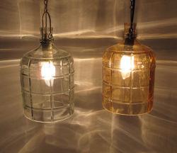 Luz do pendente de vidro