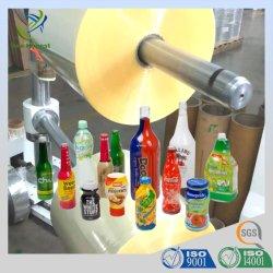La alta calidad y cristalinas de color liso/PVC Pet Película termoencogible POF Etiqueta de uso