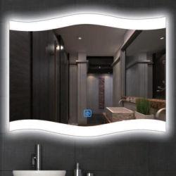 Salle de bains moderne de bord d'onde LED en verre de miroir de maquillage miroir cheap hotel miroir décoratif