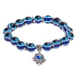 الخرز الأزرق عيون الشر براكليت همسة يد فاطمة ل فتاة لوسكي سحر تمدّد أساور براكاليت إيس13418