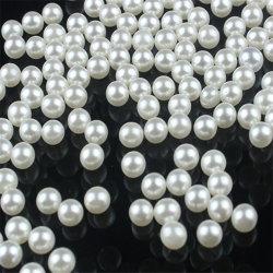 Venda por grosso de 4mm a 14mm Branco Pérola Redonda ABS plásticas soltas cordões para joalharia Condecorações