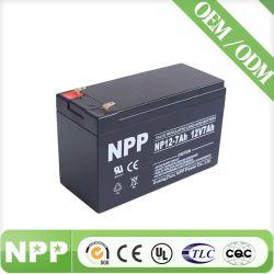Security Alarm System Sealed Maintenance Free Lead Acid UPS Battery VRLA SLA Batteryのための12V7ah AGM Rechargeable Sealed Lead Acid Battery