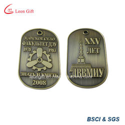 浮彫りにされた3D Design Bronze Color Dog Tag Custom