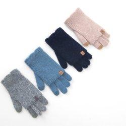 Maglia da uomo Guantes Invierno Thinsulate realizzata a mano Black XL Guanti invernali in acrilico in lana calda per la vita quotidiana