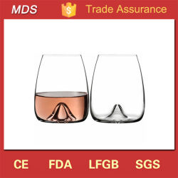 Vetri di vino Stemless di cristallo incisi dipinti a mano eleganti