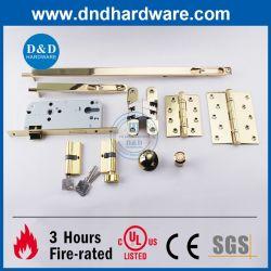 Latón pulido SS304 accesorio Fuego Hardware para puertas de interior