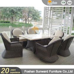 贅沢なテラス私達家具を食事する一定のレストランのホーム表および椅子のホテルの屋外の庭を食事する様式のアルミニウム余暇