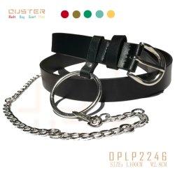 Correa de PU básica Dama correa con la decoración de la cadena de bucle de metal redondo Accesorios de moda