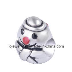 Dernière conception de bijoux de Noël Bonhomme de neige charm perle