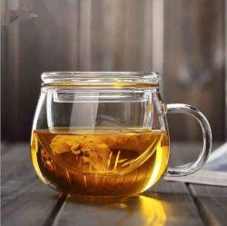 Ventes en gros de résistant aux hautes températures Creative Bureau en verre tasse, fleur de tasse de thé, de la personnalité de trois pièces