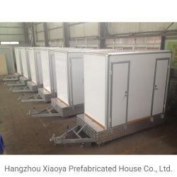 Het Mobiele Toilet van de aanhangwagen met de Riolering van het Bassin van de Was en de Schone Tank van het Water