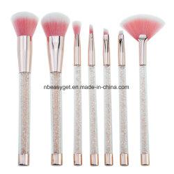 7-PCS-Makeup Brush Set mit Glänzendem Flüssigkristall-Treibsand Glitter Acrylgriff Esg10503
