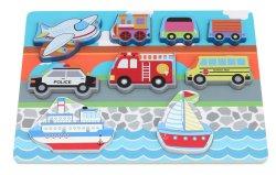 Juguetes de madera y el bebé los juguetes de madera de fábrica del fabricante del vehículo en 3D Rompecabezas para Niños y los niños