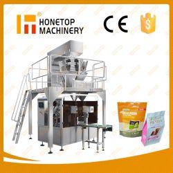 Körnchen-Korn-Salz-Zuckerkaffee-Reis-bricht Nuts Imbiss-Trockenfleisch- vom Rindschokoladen-Biskuit Doypack Beutel-Beutel-Quetschkissen-Verpacken- der Lebensmittelmaschinen-Nahrungsmittelverpackungsmaschine ab