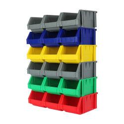 Caixa de armazenamento de plástico empilháveis para crianças, compartimentos de reciclagem empilháveis
