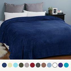 Super doux tricot Baby-Care Couverture Couverture de luxe en molleton de flanelle lavés bleu taille confortable léger Twin peluche solide en microfibre Blanke