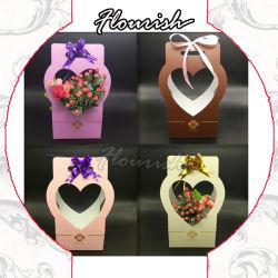 Sacchetto a forma di del regalo dell'elemento portante del fiore della carta kraft del nuovo cuore creativo di disegno